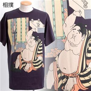 抜染浮世絵Tシャツ 相撲 L - 拡大画像