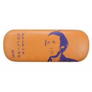 坂本龍馬メガネケース オレンジ【2個セット】 - 拡大画像