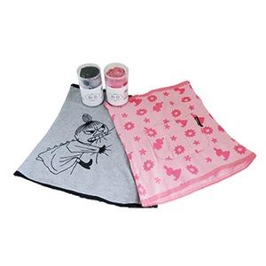 ムーミン 腹巻 【ピンク+グレー2色セット】 - 拡大画像