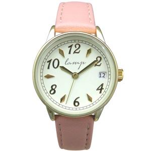 便利な日付付き 腕時計【2本セット】【ピンク】U04013 A-1