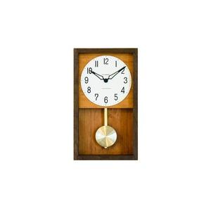CHAMBRE HINOKI PENDULM CLOCK【BROWN】