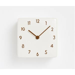 CHAMBRE CERAMIC WALL CLOCK【BROWN】