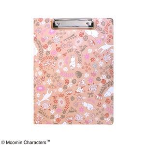 ムーミン クリップボード【同柄2個セット】【FLOWER ピンク】 - 拡大画像