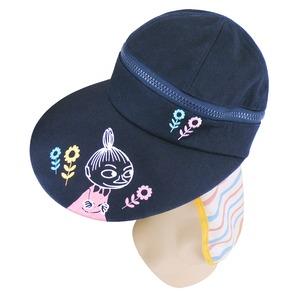 【保育士さん】ムーミン 3WAYつば広帽子 【ボーダーブルーピンク】 - 拡大画像
