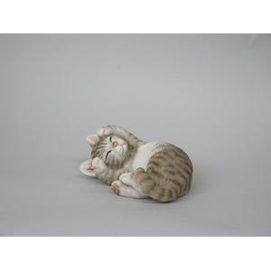 ねこの置物 甘えん坊CAT アメショ【2個セット】 - 拡大画像