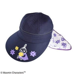 【保育士さん】ムーミン 3WAYつば広帽子 【フラワーパープル】 - 拡大画像