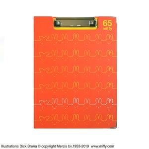 ミッフィー クリップボード【同柄2個セット】【65thラインアート オレンジ】 - 拡大画像