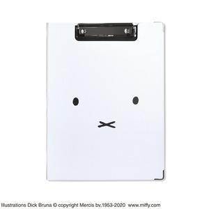 ミッフィー クリップボード【同柄2個セット】【Faceホワイト】 - 拡大画像