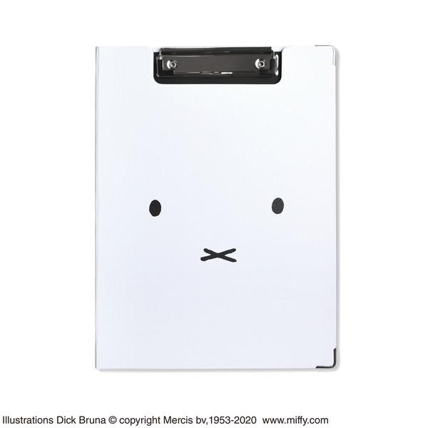 ミッフィー クリップボード【同柄2個セット】【Faceホワイト】