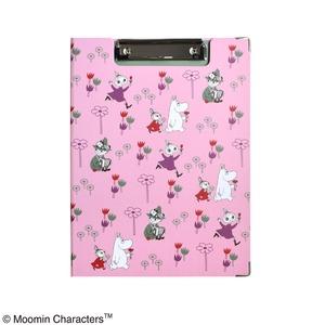 ムーミンクリップボード【同柄2個セット】【Flower garden ピンク】 - 拡大画像