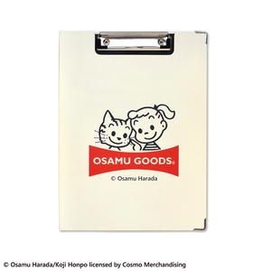 OSAMU GOODS クリップボード【同柄2個セット】【ジル&キャット アイボリー】 - 拡大画像
