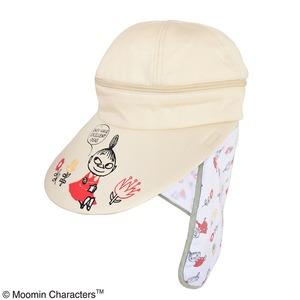 【保育士さん】ムーミン 3WAYつば広帽子 【コミックフラワーベージュ】 - 拡大画像
