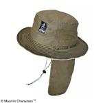 【保育士さん】【帽子】【アウトドア】ムーミン サファリハット 日除け付き フラワーカーキ