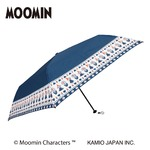 ムーミン3段折り畳み傘【同柄2本セット】【ラインフラワー】
