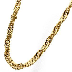 純チタン 極太スクリューネックレス 45cm ゴールド - 拡大画像
