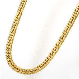 純チタンダブル6面喜平ネックレス(6mm幅) ゴールド 50cm - 拡大画像