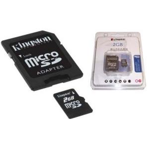 マイクロSDカード2GB  KINGSTON アダプター付 - 拡大画像