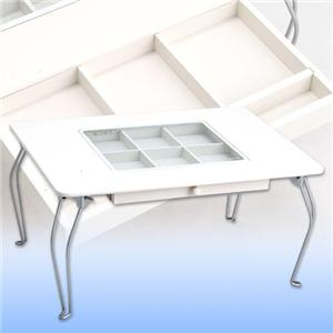 パステルコレクションテーブル ホワイト - 拡大画像