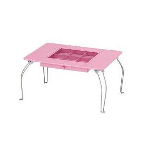 パステルコレクションテーブル ピンク - 拡大画像
