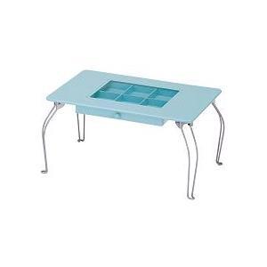 パステルコレクションテーブル ブルー - 拡大画像