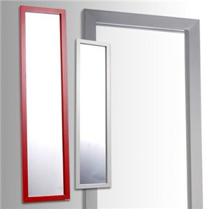鏡面仕上げウォールミラー レッド(赤) - 拡大画像
