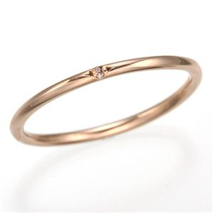 天然ピンクダイヤリング 指輪 【ピンク】5号 - 拡大画像