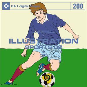 写真素材 DAJ200 ILLUSTRATION / SPORTS 02 【イラストシリーズ〜スポーツ 02】 - 拡大画像