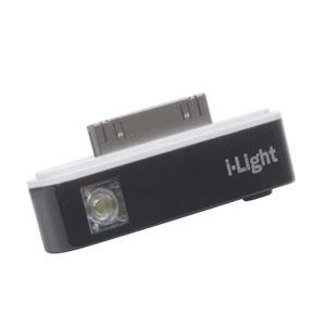 iPhone専用小型LEDライト i-Light ブラック - 拡大画像