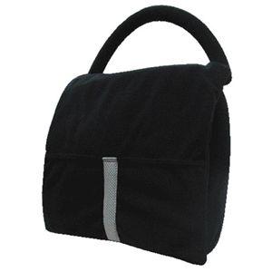 かばん型マッサージ枕 ブラック - 拡大画像