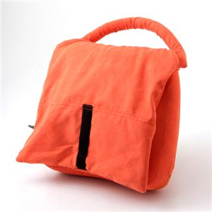 かばん型マッサージ枕 オレンジ - 拡大画像