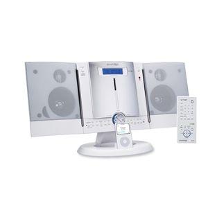 SMART STYLE CDコンポ FSC-401 WH iPod対応 ホワイト - 拡大画像