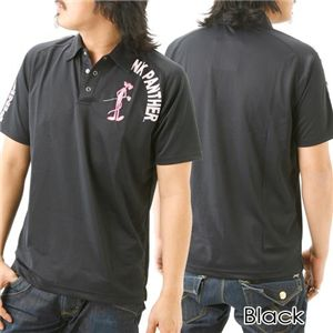 PINK PANTHER 『ダルファイン』ポロシャツ 12803339 ブラック LL - 拡大画像
