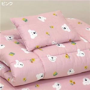 お子様用お昼寝布団4点セット ピンク - 拡大画像