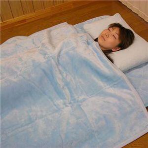 吸湿発熱掛け毛布(洗濯可) 約140×200cm ブルーS - 拡大画像
