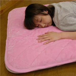 吸湿発熱敷きパット(洗濯可) 約100×205cm ピンクS - 拡大画像