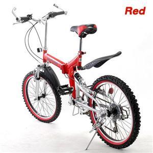 MY PALLAS 20インチ Wサス付き折りたたみ自転車 W-210 レッド - 拡大画像