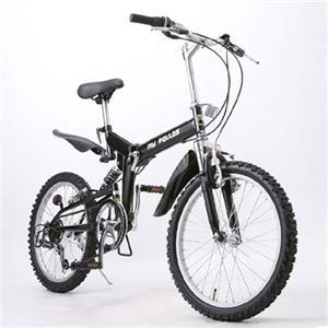 MYPALLAS(マイパラス) M-10 折り畳み自転車 20インチ6段変速ダブルサス ブラック - 拡大画像