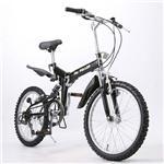 MYPALLAS(マイパラス) M-10 折り畳み自転車 20インチ6段変速ダブルサス ブラック