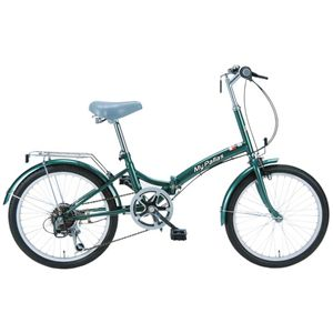 MYPALLAS(マイパラス) 折り畳み自転車 M-30GR 20インチ 6段変速 グリーン - 拡大画像