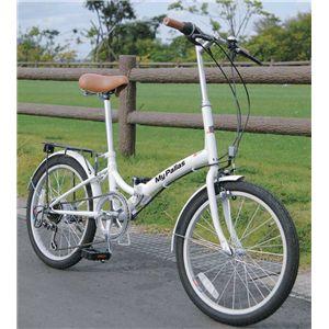 MYPALLAS(マイパラス) 折り畳み自転車 M-30W 20インチ 6段変速 ホワイト - 拡大画像