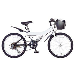MYPALLAS(マイパラス) 子供用自転車 M-703WBK 20インチ 6段ギア ホワイトブラック (マウンテンバイク) - 拡大画像