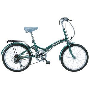 MYPALLAS(マイパラス) 折り畳み自転車 M-30 20 6段変速 モスグリーン - 拡大画像