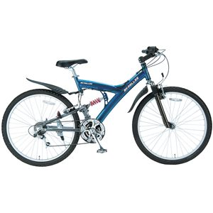MYPALLAS(マイパラス) 自転車 M-75 26インチ 21段変速 Wサス/アルミフレーム ブルーシルバー (マウンテンバイク) - 拡大画像