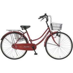 MYPALLAS(マイパラス) 自転車 M-513 26インチ ワインレッド (シティサイクル) - 拡大画像