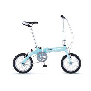 RENAULT(ルノー) 折り畳み自転車 14インチ AL-FDB14 ミントブルー 【フォールディングバイク】 - 拡大画像