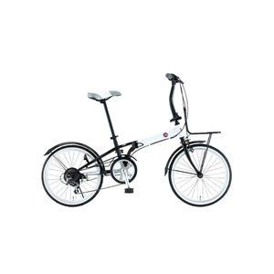FIAT(フィアット) 折畳自転車 FDB206SK 20インチ ホワイト - 拡大画像