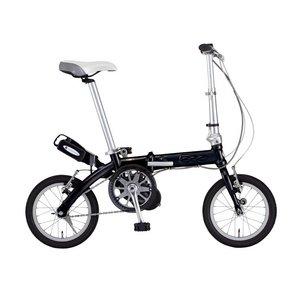 FIAT(フィアット) 500 AL-FDB140アシスト 14インチ 折畳自転車 ブラック - 拡大画像