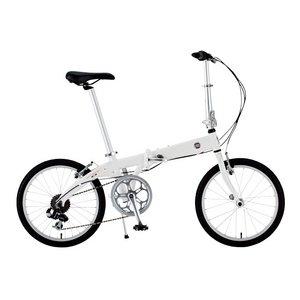 FIAT(フィアット) AL-FDB207 TN 20インチ 折畳自転車 7段変速 ホワイト - 拡大画像