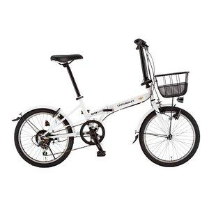 CHEVY(シボレー) FDB206 EX 20インチ 折畳自転車 6段変速 ホワイト - 拡大画像
