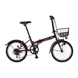 CHEVY(シボレー) FDB206 EX 20インチ 折畳自転車 6段変速 D レッド - 拡大画像
